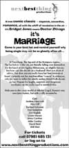 Marriage flyer reverse Marriage Flyer
