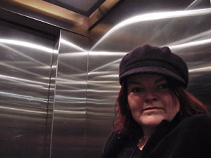 Gill in the lift